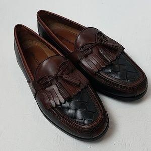 Johnston & Murphy Brown Black Tassel Loafers